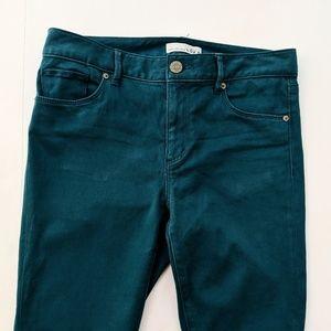 Ann Taylor Loft Sz 6/28 Teal Green Stretch Legging